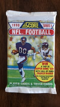 1990 Score Football Cards per Pack Denville, 07878