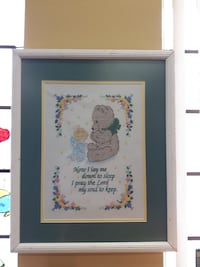 Bedtime Prayer Framed Cross-stitch Embroidery
