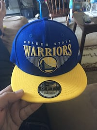 yellow and blue Golden State Warriors fitted cap Kenosha, 53144