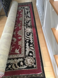 red and black floral area rug