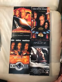 four assorted DVD movie cases Brantford, N3S 7M9