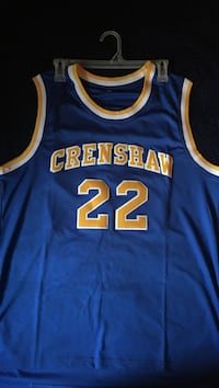 Blue and brown Grenshaw 22 basketball jersety Houston, 77067