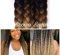 3 TONE COLORED HAIR EXTENSIONS FOR BRAIDING DIFFER Fort McMurray, T9H 4K1