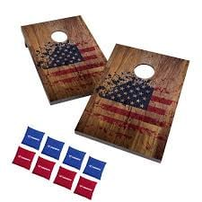 Triumph Patriotic Tournament Bean Bag Toss Game Set with 8 Duck Cloth Bean Bags (New in Box)