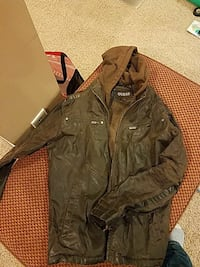 brown leather full-zip jacket Orchard Park, 14127