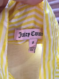 small yellow and white stripe Juicy Couture apparel