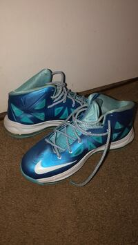 Pair of blue-and-white nike basketball shoes Columbia, 21045