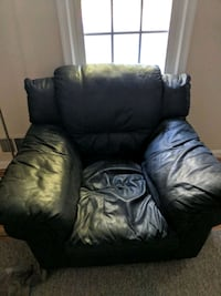 black leather recliner sofa chair Burke