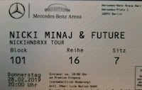 2 Premium Tickets Nicki Minaj & Future Berlin, 12683