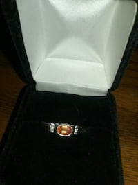 Sterling silver fire opal  women's size 7