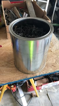 Full bucket of drywall screws