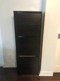 shoe cabinet with 3 compartment black/brown