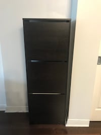 shoe cabinet with 3 compartment black/brown MONTREAL