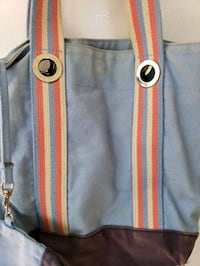 Blue and rainbow handbag. Woodbridge, 22193