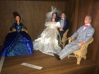 Wedding Party Barbies with Clothes, Shoes and Wicker Chair Set  Oshawa, L1J 1Z4
