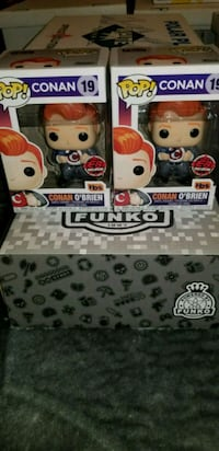 Conan O'brian exclusive funko pops (FIRM PRICE) Toronto, M1L 2T3