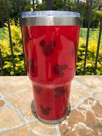 Red Mickey Inspired 30 oz Stainless Steel Epoxied Tumbler  Hahnville, 70057