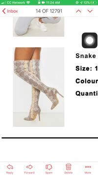 Snake skin thigh high boots