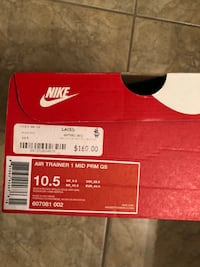 "Size 10.5 Air Trainer 1 ""Paid in Full"" Mississauga, L5V 1N1"