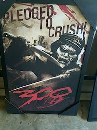 Framed poster, Pledged to Crush from 300  Knoxville, 37931