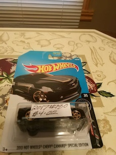 2013 Hot Wheels black Chevrolet Camaro scale model