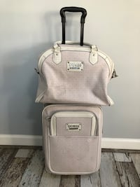 gray and white leather tote bag Leesburg, 20176