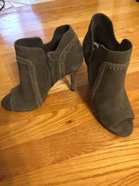 Peep toe booties size 6.5