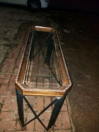 Metal & Glass Entry Table