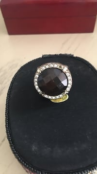 Carbon stone w/Crystal   Ring 8-9 Boca Raton, 33486