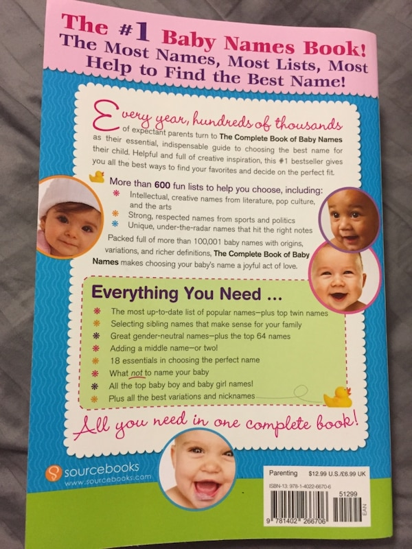 Baby names 672 pages