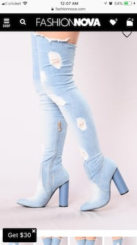 women's blue denim jeans Monroe, 30655