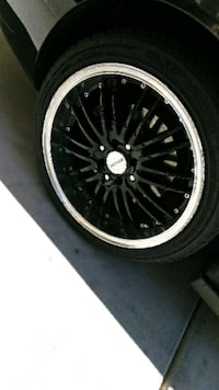 "4 Rims w/tire Black 17"" North Las Vegas"
