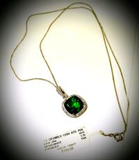 Emerald  Crystal Vintage Silver Necklace (Stamped) is brand new with t Woodbridge, 22192