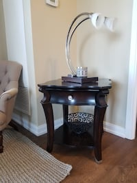 Dark Chocolate End Table W/ Drawer Toronto, M1C 5A7