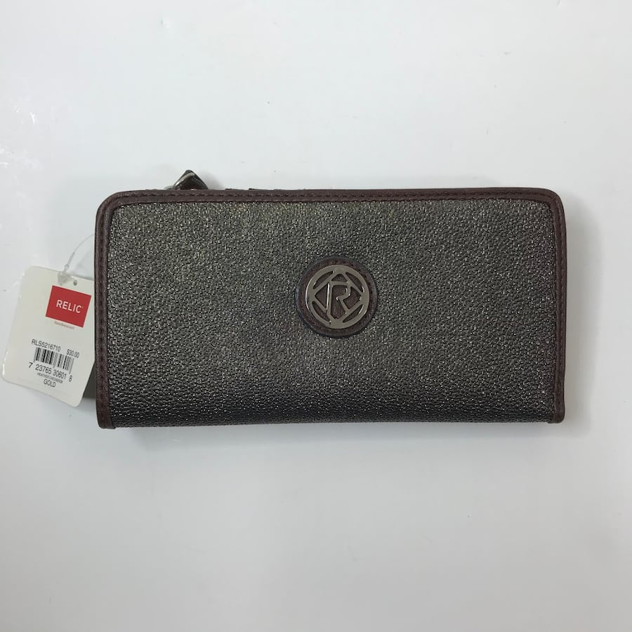 Relic Brown & Gold Clutch Wallet