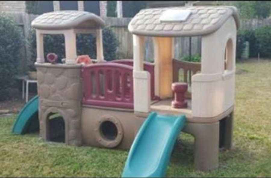 Used Little Tikes Step 2 Clubhouse Climber Play Set. In