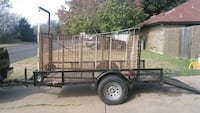 black and brown utility trailer