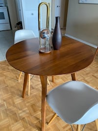 West Elm table + two chairs
