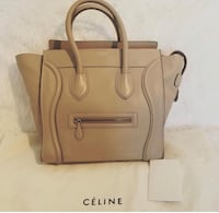 Authentic Celine luggage mini in dune  3750 km