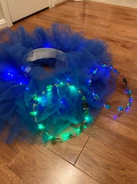 Light up tutu and one headpiece