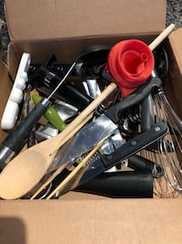 Box of assorted kitchen tools Toronto, M4Y 0A4