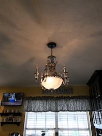 brown and white uplight chandelier Ocala, 34480