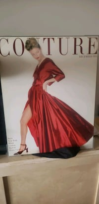 Couture December 1954 wooden poster