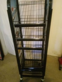 6 shelf adjustable wire rack on casters. Jackson, 30233