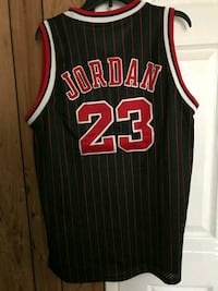 red and black Chicago Bulls michael jord 23 jersey Anaheim, 92806