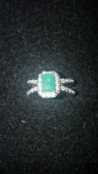 silver-colored ring with green gemstone Colorado Springs, 80903