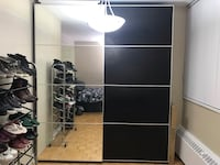New Ikea pax wardrobe used for 2 month only, price is slightly negotiable for serious buyer, original price 1200$ Toronto, M4S 2J8