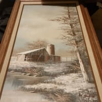 4 Beautiful oil paintings with certifications 1 huge 1 lg 2 sm 885 mi