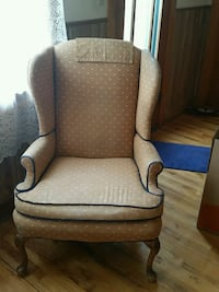 High Back Chair newly recovered Dark Blue Back Golden, 80403