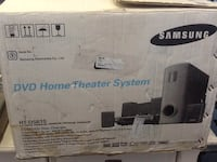 black and gray home theater system box 68 km